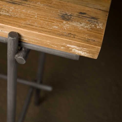 Eettafel Pesaro - Recycled teak met metalen frame