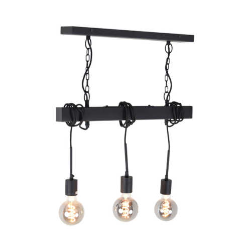 Hang-/plafondlamp Blox 3-lichts Zwart
