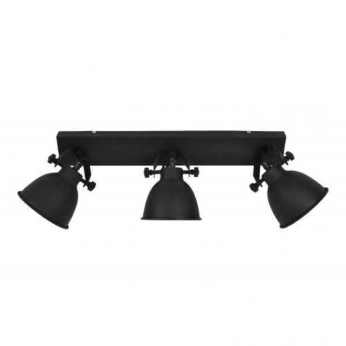 Spot/Plafondlamp industrial 3-lichts vintage black