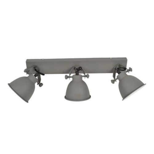 Spot/Plafondlamp industrial 3-lichts vintage grey