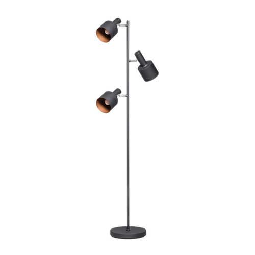 Vloerlamp Sledge 3-lichts - Zwart