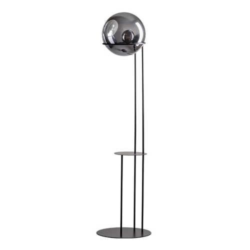 Vloerlamp Orb met bijzettafel 203cm - Smoke glas