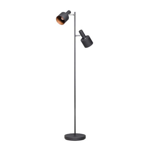 Vloerlamp Sledge 2-lichts - Zwart