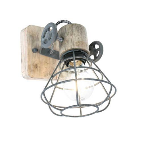 Anne Spot/Wandlamp Geurnesey 1L - Grijs
