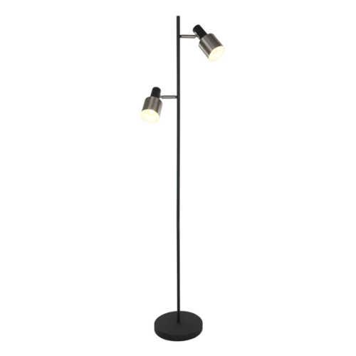 Anne Vloerlamp 2-lichts Fjorgard - Zwart met staal