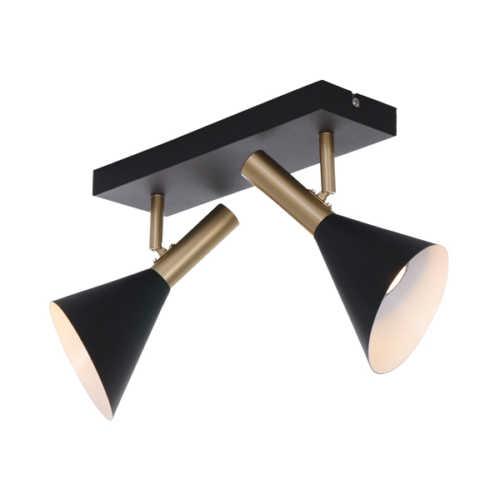 Anne's Choice Spot/Wandlamp 2-lichts GU10 - Zwart Goud