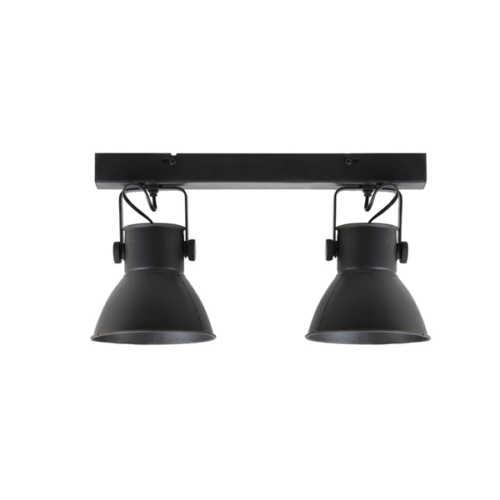 Spot/wandlamp 2L ELIANO mat zwart