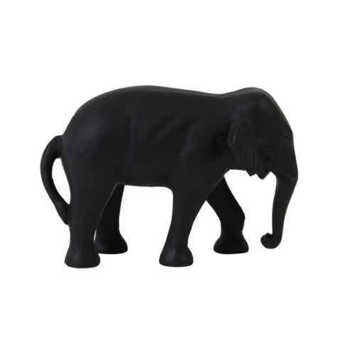 Ornament 22x14x15 cm ELEPHANT zwart