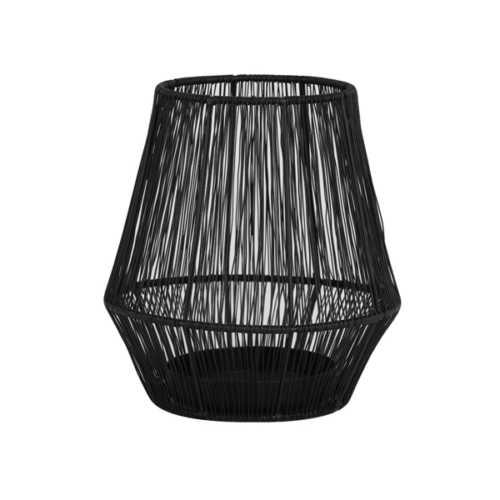 Theelicht 20x20x22cm VITU mat zwart
