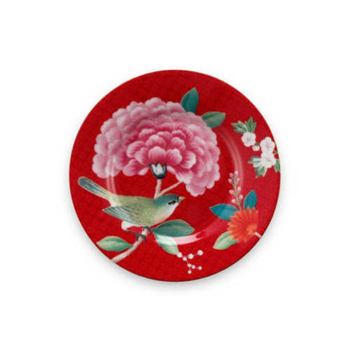 Pip Studio Blushing Birds Petit Four bordje 12cm - Rood