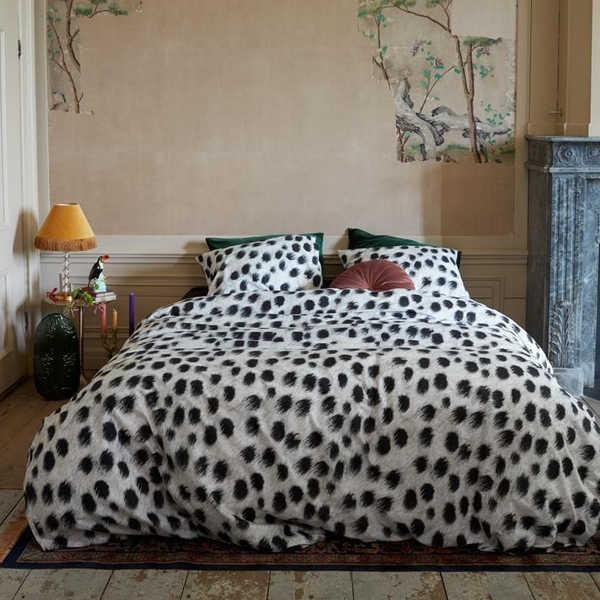 At Home dekbedovertrek Roundly - Zwart Wit