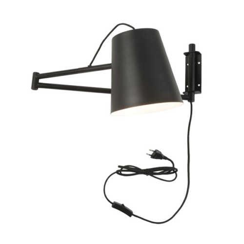 Wandlamp verstelbaar Brisbane - Zwart