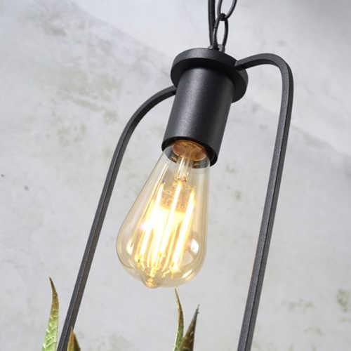 Hanglamp met planthouder Florence - Zwart