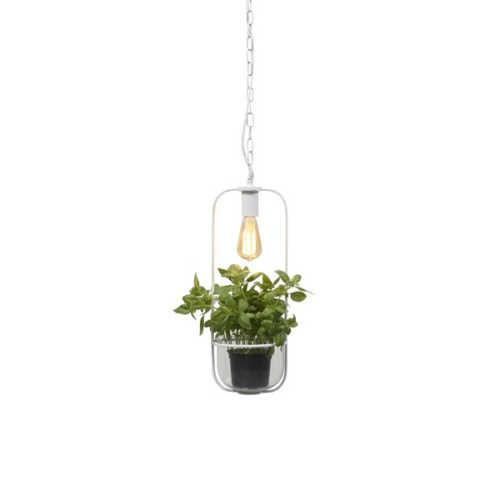 Hanglamp met planthouder Florence - Wit