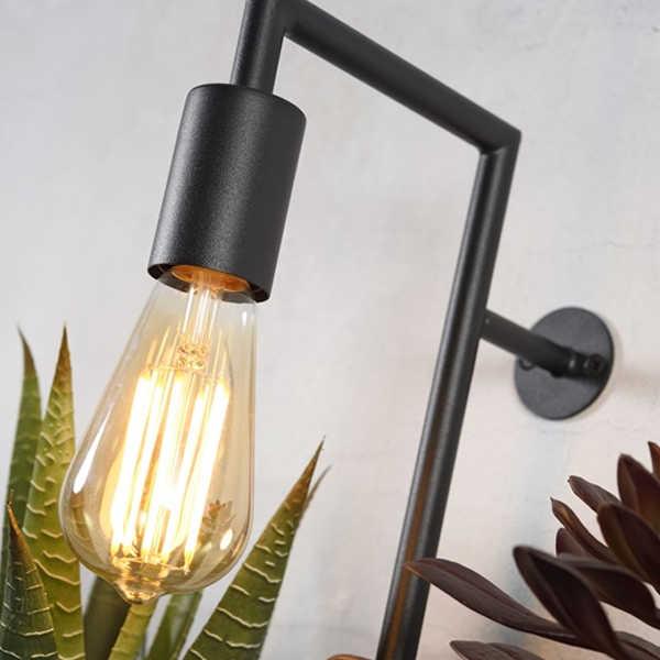 Wandlamp met 3 planthouders Florence - Zwart
