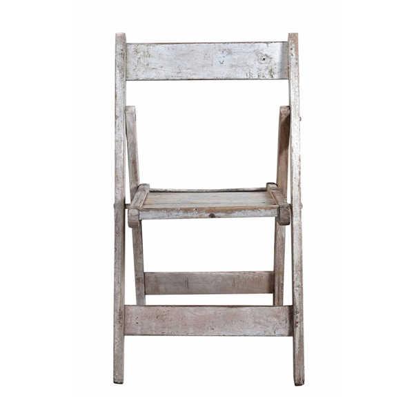 Unieke houten klapstoel