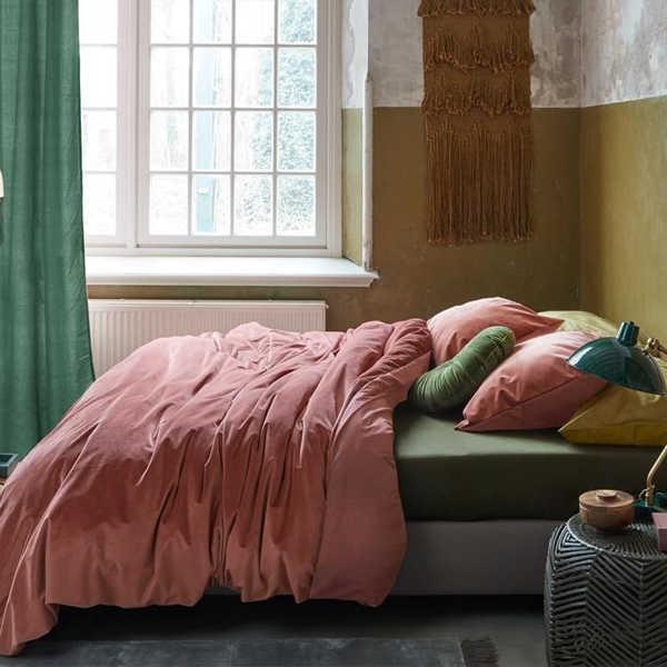 At Home Tender dekbedovertrek - Dark Pink