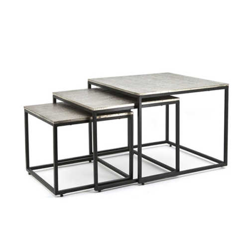 Salontafel set/3 Trapeze - Square