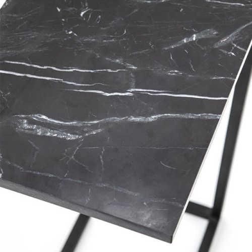 Bijzettafel Edge - Zwart Marmer