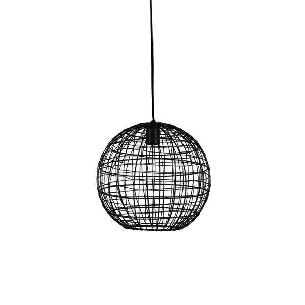Hanglamp 35x33cm MIRANA - Mat zwart