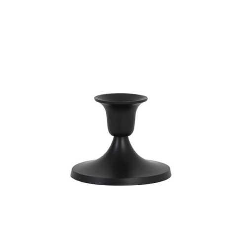 Kandelaar 9,5x8cm TRIPPIER mat zwart