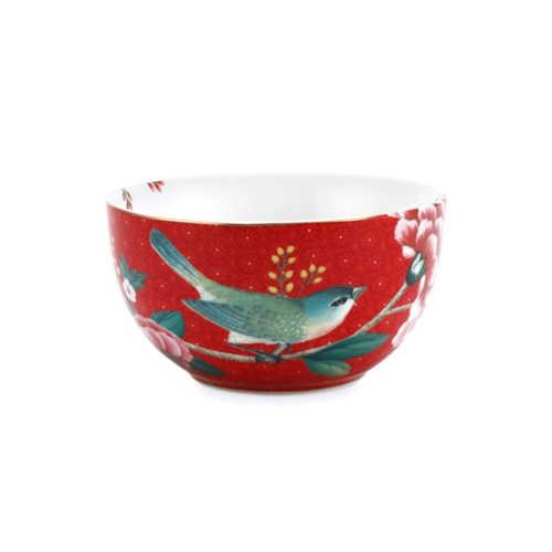 Pip Studio Blushing Birds Kom 12cm - Rood