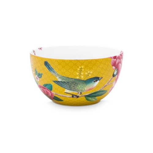 Pip Studio Blushing Birds Kom 12cm - Geel