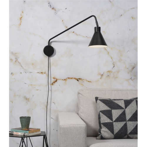 Wandlamp Lyon - Zwart