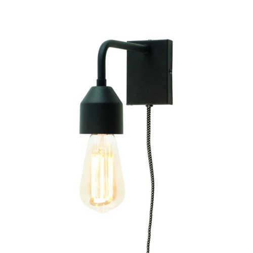 Wandlamp Madrid S - Zwart