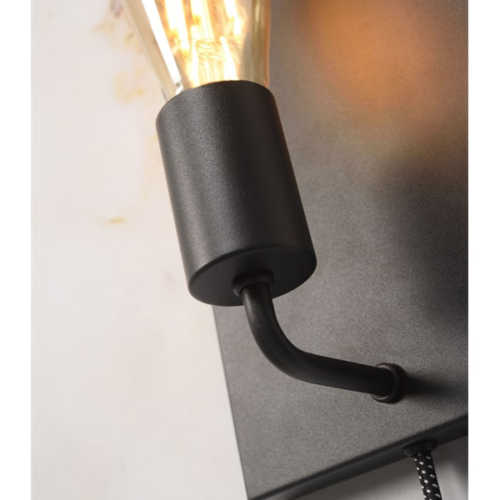 Wandlamp Madrid L - Zwart