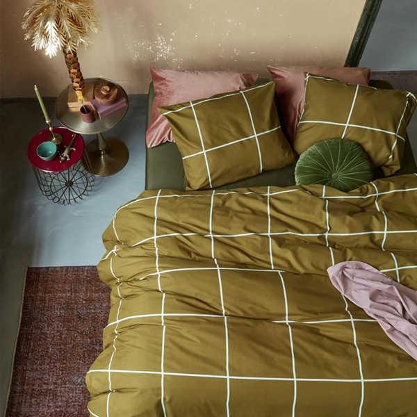 At Home dekbedovertrek Simple - Okergeel