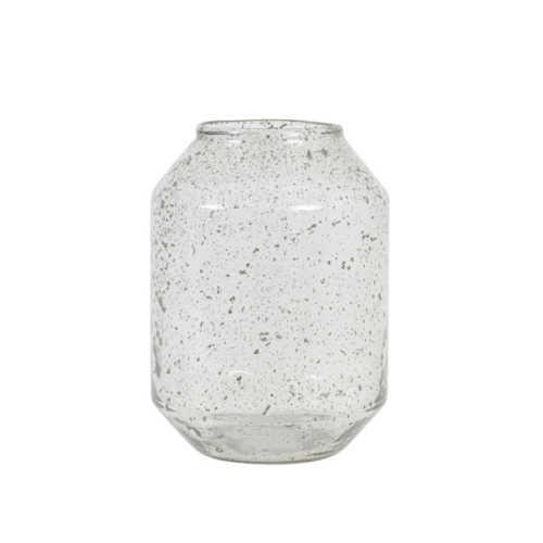 Vaas 19x26cm SOGODA glas steenslag - Helder