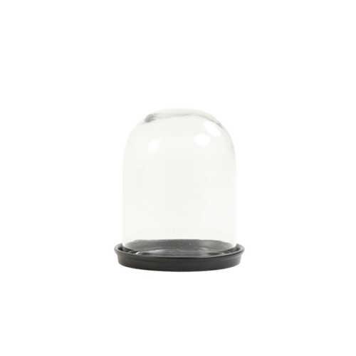 Stolp 14x17cm HARANG helder glas - Zwart