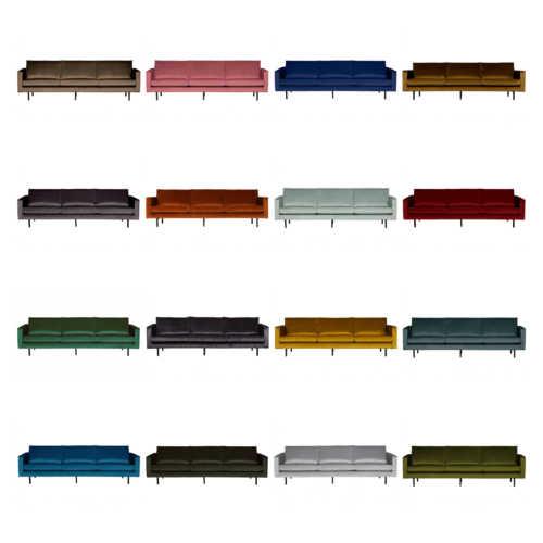 BePureHome Rodeo 3-zits bank - Velvet (diverse kleuren)