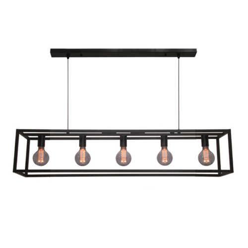 Hanglamp 5-lichts Esteso - Zwart