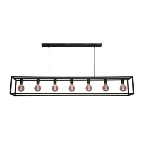 Hanglamp 7-lichts Esteso - Zwart