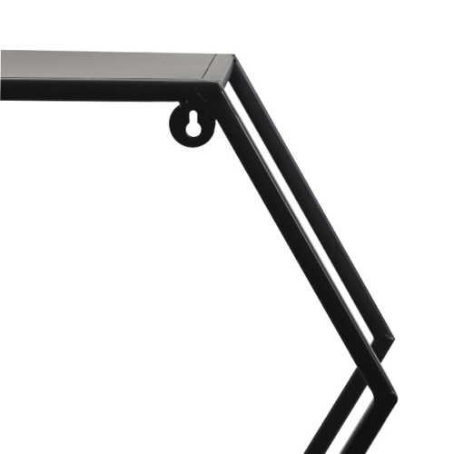 Wandrek 106x20x74,5cm HUAL - Mat zwart