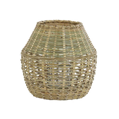 Windlicht 39x39 cm SOLAKA bamboe naturel