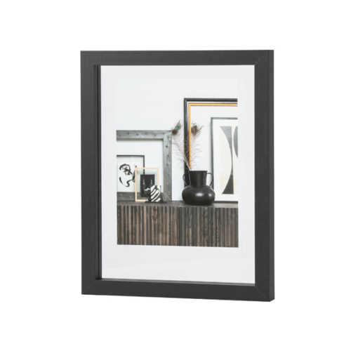 WOOOD Blake fotolijst met houten rand - 50x40cm