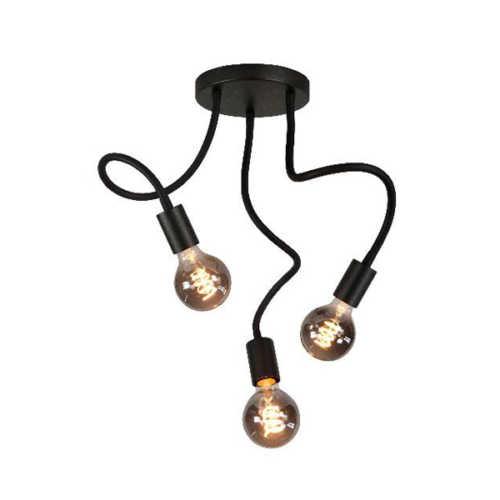 Plafondlamp 3-lichts Flex - Mat zwart