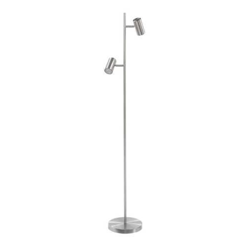 Vloerlamp Burgos 2-lichts 3-stappen - Nikkel