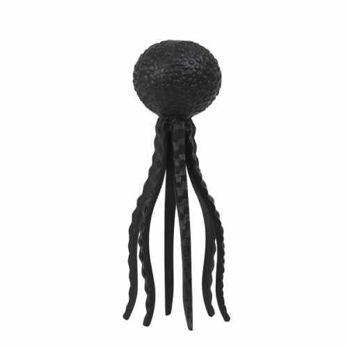 Ornament 12x33cm OCTOPUS - Mat zwart