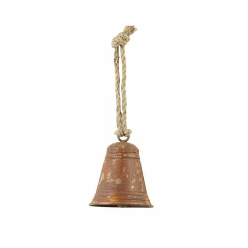 Ornament hang 10x12cm BELL - Roest