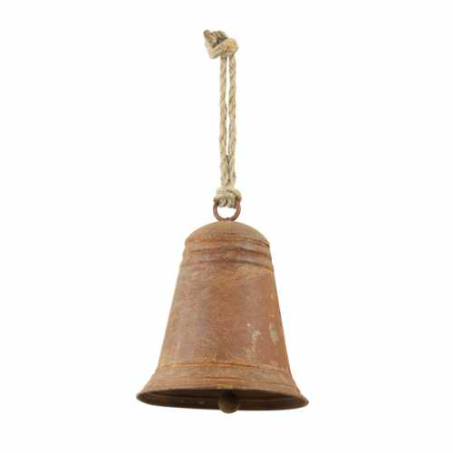 Ornament hang 17,5x22cm BELL - Roest