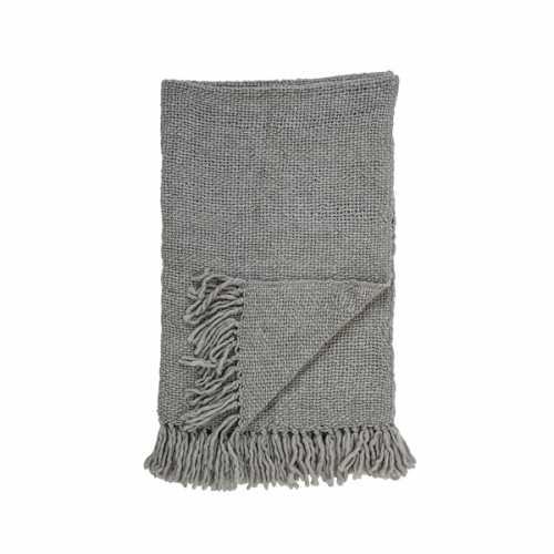 Bloomingville Plaid wol 170x130cm - Grijs