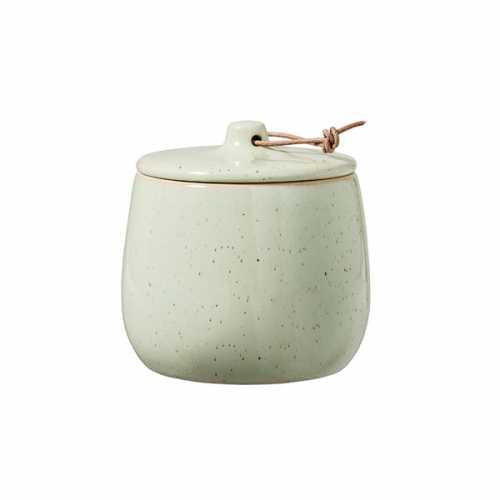 Bloomingville Opbergpot met deksel keramiek 10cm - Groen
