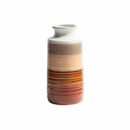 BePureHome Vaas keramiek Decennia 14x14x30cm - Chestnut