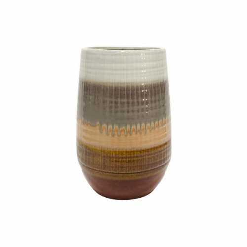 BePureHome Vaas keramiek Lava 19x19x28cm - Chestnut