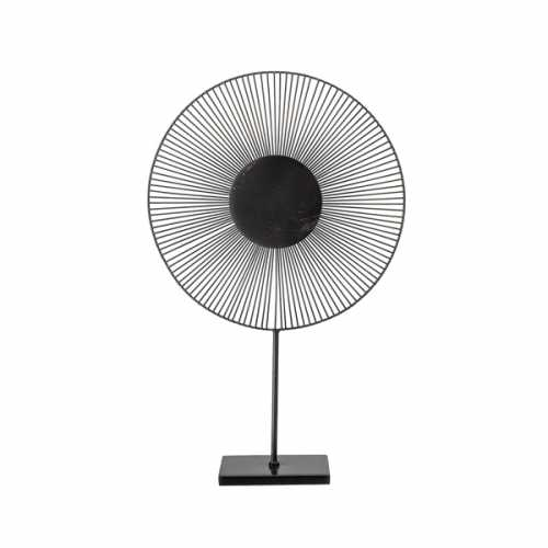 Bloomingville Ornament Geo 55cm hoog - Zwart Metaal