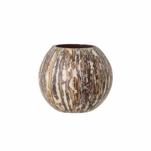 Bloomingville Theelichthouder kokosnoot 9cm - Bruin